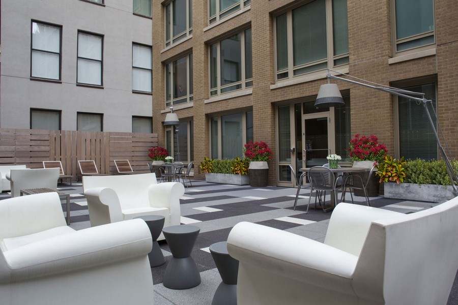 outdoor lounge seating area