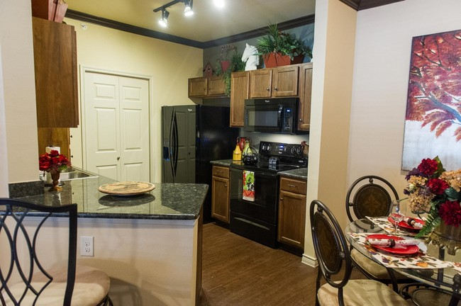 Apartment kitchen and dining area