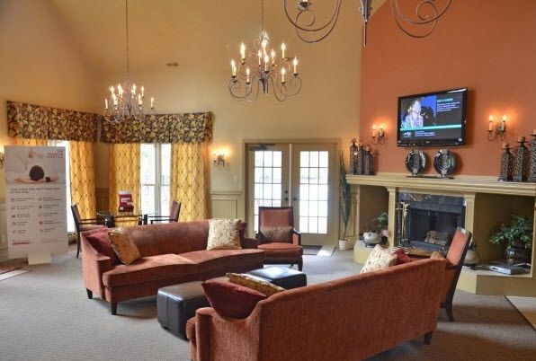 Clubhouse with seating and television