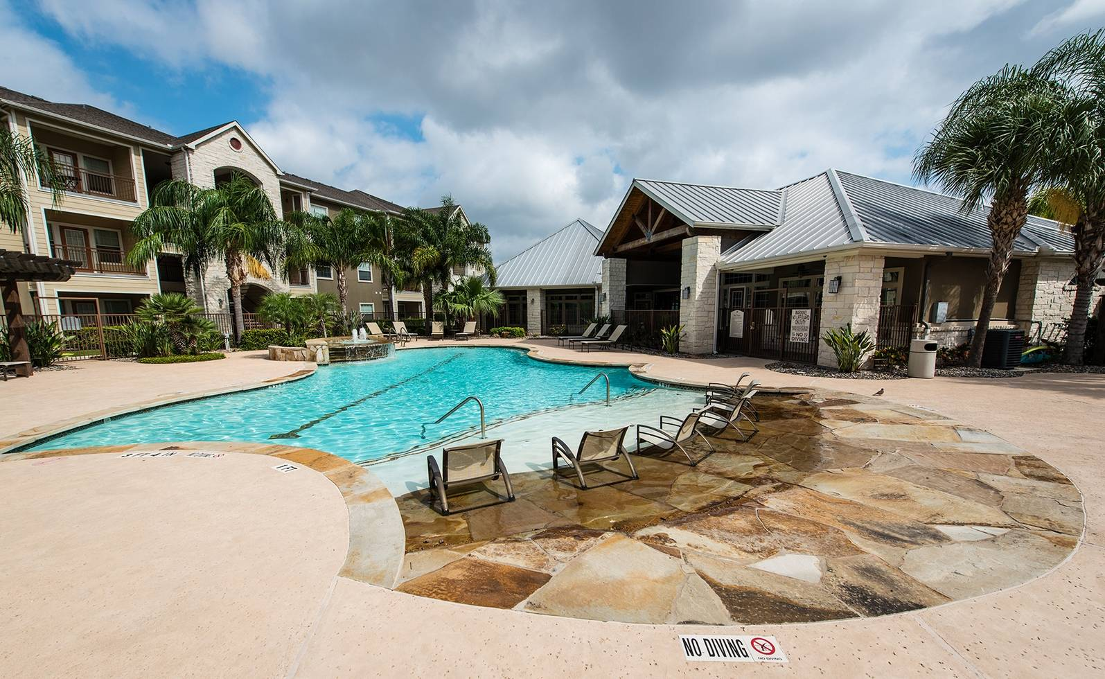 Resort-style pool on property