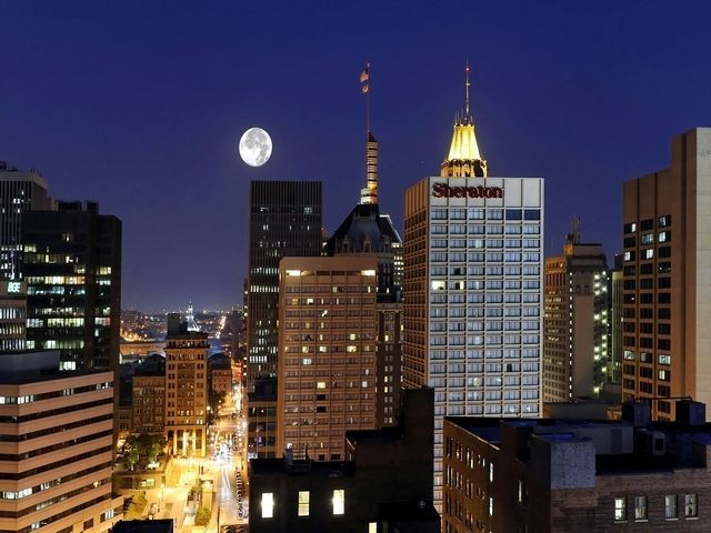 Nightine skyline view