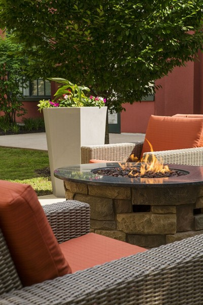 Outdoor seating with fire pit
