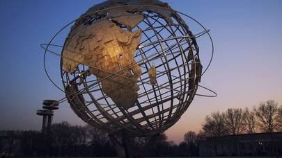 flushing meadows globe sculpture